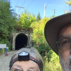 Photo taken at Hyak Trailhead - Iron Horse Trail by Roger C. on 8/16/2015