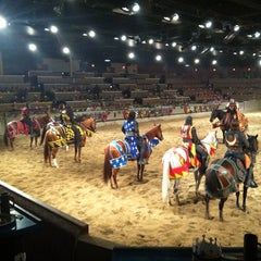 Photo taken at Medieval Times Dinner & Tournament by Nadja M. on 9/28/2012
