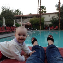 Photo taken at Colony Palms Hotel by Ina W. on 2/27/2015