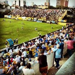 Photo taken at Estadio Don León Kolbowski - Club Atlético Atlanta by Mario G. on 3/1/2014