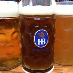 Photo taken at Hofbräu Bierhaus NYC by Christian H. on 10/26/2012