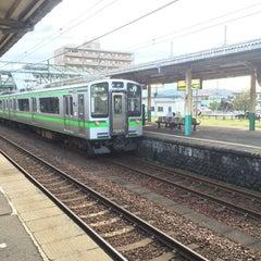 Photo taken at 東三条駅 (Higashi-Sanjo Sta.) by toporun K. on 9/1/2015
