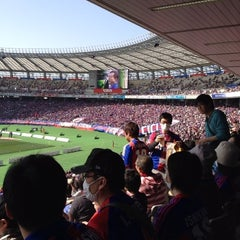 Photo taken at 味の素スタジアム (AJINOMOTO STADIUM) by 剛志 高. on 3/9/2013