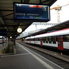 Photo taken at Gare de Genève Cornavin by Jim P. on 5/24/2013