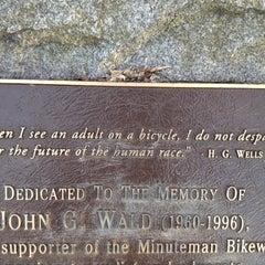 Photo taken at Minuteman Commuter Bikeway by Julie M. on 11/12/2012