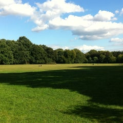 Photo taken at Treptower Park by Ashley S. on 9/13/2012