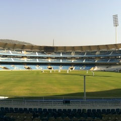 Photo taken at Dr. DY Patil Stadium (डा. डी. वाय. पाटील स्टेडीयम) by Ronak T. on 12/29/2012