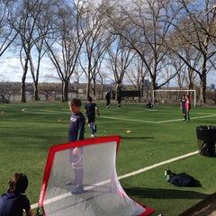 Photo taken at 101 Street Soccer Field by Nancy K. on 4/23/2014