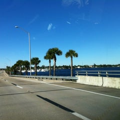 Photo taken at Caloosahatchee Bridge by Jeff O. on 12/22/2012