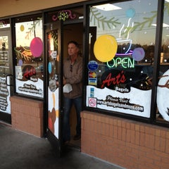 Photo taken at Art's Bagels and More by Mike F. on 11/29/2012