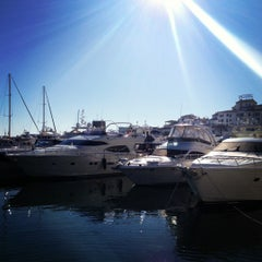Photo taken at Puerto Banús by Natalia M. on 12/29/2012