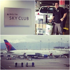 Photo taken at Delta Sky Club by Robert P. on 4/1/2013