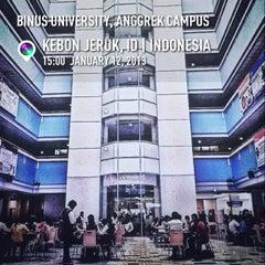 Photo taken at BINUS University by Iqbal M. on 1/12/2013
