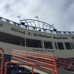 Photo taken at McKethan Stadium at Perry Field by Ralph on 5/5/2015