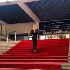 Photo taken at Palais des Festivals et des Congrès by Elena C. on 6/24/2013