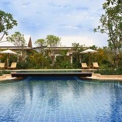 Photo taken at Tachawan Resort & Restaurant by Tachapon K. on 12/4/2012