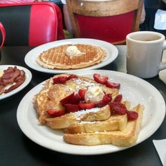 Photo taken at Red Hut Waffle Shop by Jennifer A. on 8/18/2015