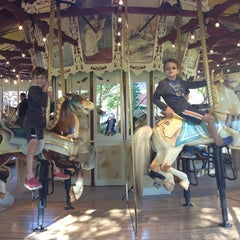 Photo taken at Congress Park Carousel by lorna k. on 10/13/2013