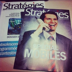 Photo taken at Stratégies by Rassem B. on 10/18/2012