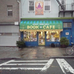 Photo taken at Every Thing Goes Cafe and Bookstore by Amerika on 10/4/2012