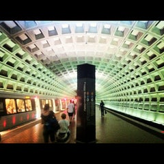 Photo taken at Foggy Bottom-GWU Metro Station by Jeff K. on 7/4/2012