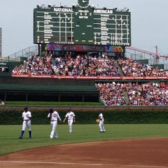 Photo taken at Wrigley Field by Steve M. on 6/22/2013