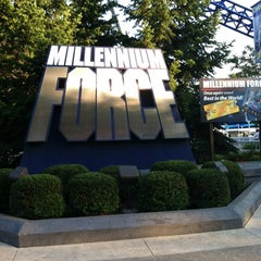 Photo taken at Millennium Force by Brandon T. on 8/23/2012
