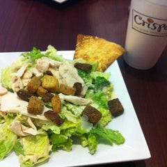 Photo taken at Crispers Fresh Salads, Soups and Sandwiches by Chelsee on 7/1/2012
