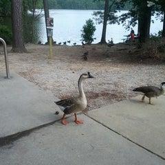 Photo taken at Lake Johnson by Joel O. on 8/13/2012