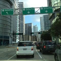 Photo taken at Brickell Ave Bridge by Blondi on 9/1/2012
