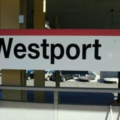 Photo taken at Metro North - Westport Train Station by Galo4ka on 9/9/2011