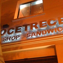 Photo taken at DoceTrece Schop & Sandwich by JLV on 2/22/2011