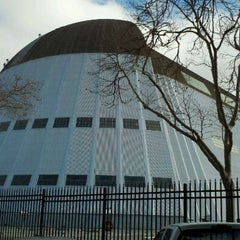 Photo taken at Hangar One (Building 1) by Matthew R. on 1/26/2012