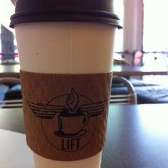 Photo taken at Lift Coffee Shop & Café by john s. on 4/2/2012