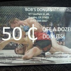Photo taken at Bob's Donuts by Thomas P. on 4/5/2012