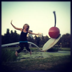 Photo taken at Minneapolis Sculpture Garden by Meghan K. on 7/10/2012