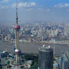 Photo taken at 东方明珠塔 | Oriental Pearl Tower by D I. on 6/29/2012