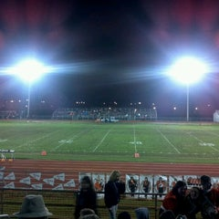 Photo taken at MHS Football Field by Marsha K. on 10/22/2011