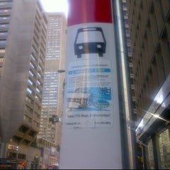 Photo taken at TTC Bus #6 Bay by Eni O. on 10/6/2011