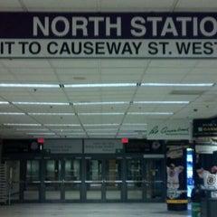 Photo taken at MBTA North Station by Allan K. on 11/10/2011