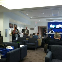 Photo taken at Delta Sky Club by Thomas L. on 2/20/2011
