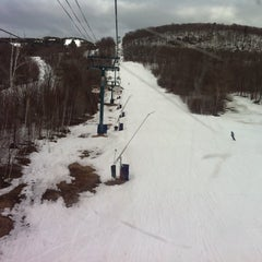 Photo taken at Station Mont Tremblant Resort by Jo F. on 4/2/2011