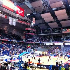 Photo taken at Barclaycard Center - Palacio de Deportes de la Comunidad de Madrid by Ángel G. on 4/22/2012