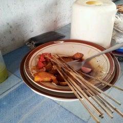 Photo taken at Sate kambing Pak Trubus by iwan M.D T. on 1/28/2012