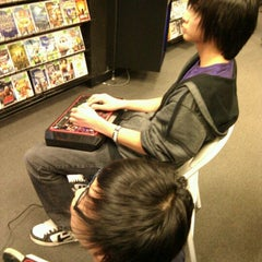 Photo taken at play n trade video games by Jonathan J. on 10/22/2011