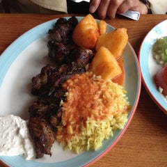 Photo taken at Astoria Shish Kebob House by Roly G. on 4/21/2012