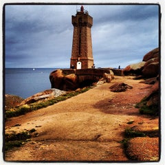 Photo taken at Phare de Ploumanac'h by Paolo R. on 8/13/2012