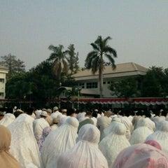 Photo taken at Al-Izhar Pondok Labu by vannz w. on 8/19/2012