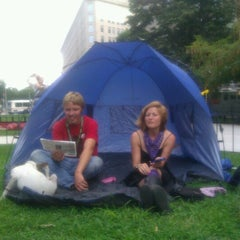 Photo taken at Occupy K St. by Michael G. on 8/1/2012
