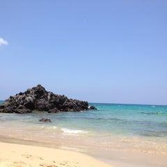 Photo taken at Waialea Beach (Beach 69) by April P. on 5/22/2012